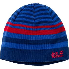 Jack Wolfskin Cross Knit Czapka Dzieci, niebieski